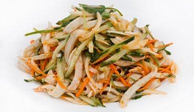 Рецепт салата из кальмаров с по китайски