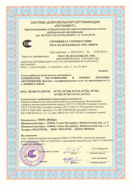 Сертификация сто выборгский район показатели безопасности обязательная сертификация