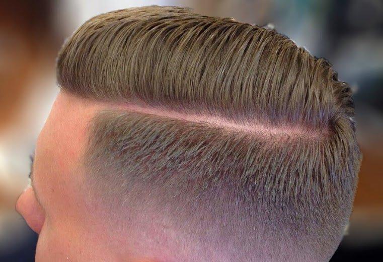Фото мужских причёсок с полосками