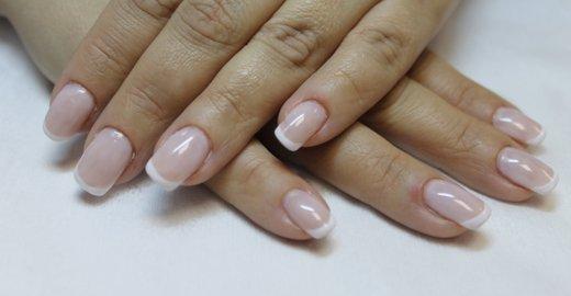 Ногти белый френч фото с рисунком овальные