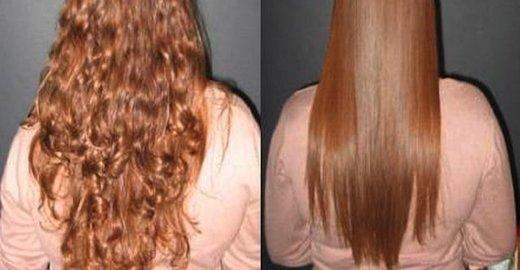 Американское выпрямление волос